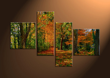 Canvas Prints, landscape prints, scenery canvas prints, scenery wall art, forest 4 piece art