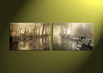 2 Piece Canvas Wall Art, landscape wall art, scenery artwork, scenery wall art, night canvas print