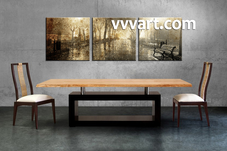 Scenery Art, 3 piece canvas, dining room wall art, scenery wall art, forest canvas wall art