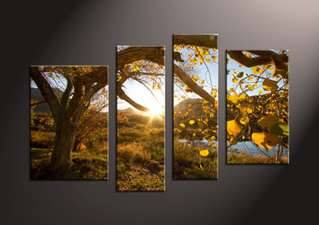 4 Piece Canvas Wall Art, landscape artwork, scenery pictures, scenery wall art, nature wall art