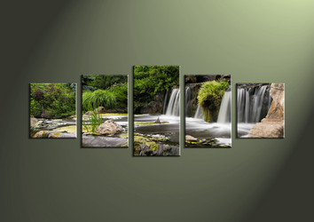 5 Piece Canvas Wall, landscape art, scenery pictures, forest wall art