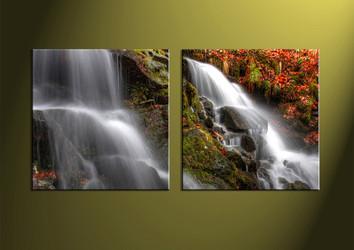Landscape Art, two piece wall art, scenery wall art, forest wall art