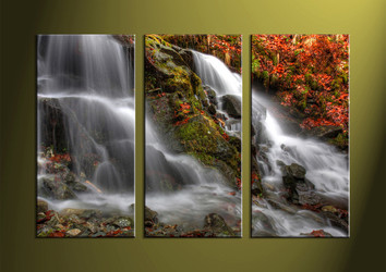 Landscape Art, 3 piece art, forest wall art, forest art, scenery wall art