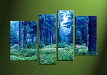 Landscape Art, 4 piece wall art, scenery artwork, wall art, night wall art