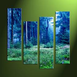 4 piece wall art, scenery artwork, wall art, night wall art