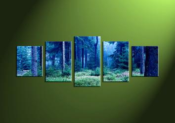 Landscape Art, 5 piece wall art, wall art, scenery artwork, forest wall art