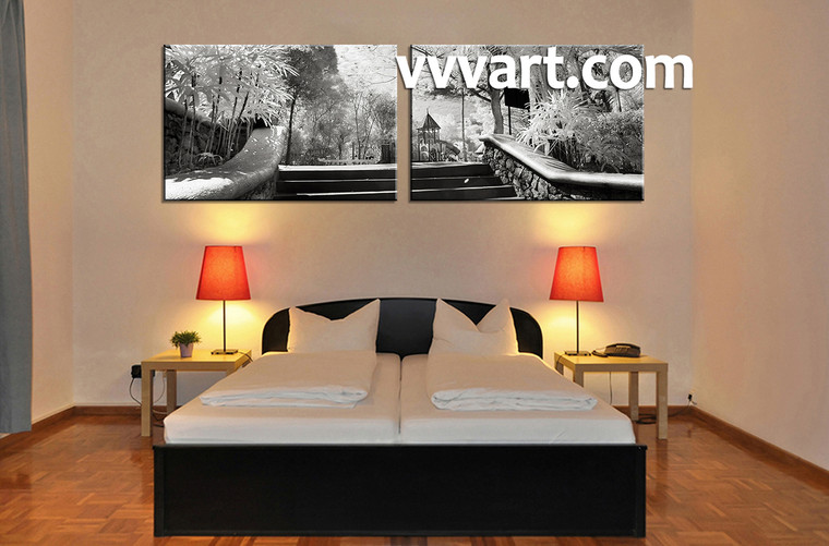 canvas prints, black and white wall art, bedroom decor,  scenery art work, scenery large canvas