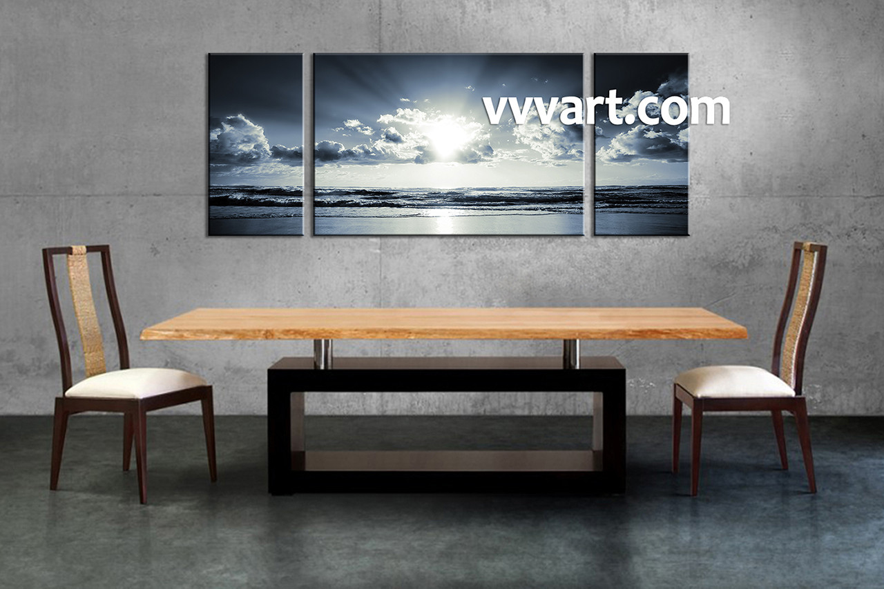 3 piece canvas wall art black and white wall art dining room wall art
