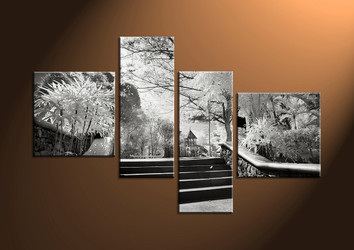 wall art, scenery large canvas, 4 piece canvas art, path pictures, scenery huge picture