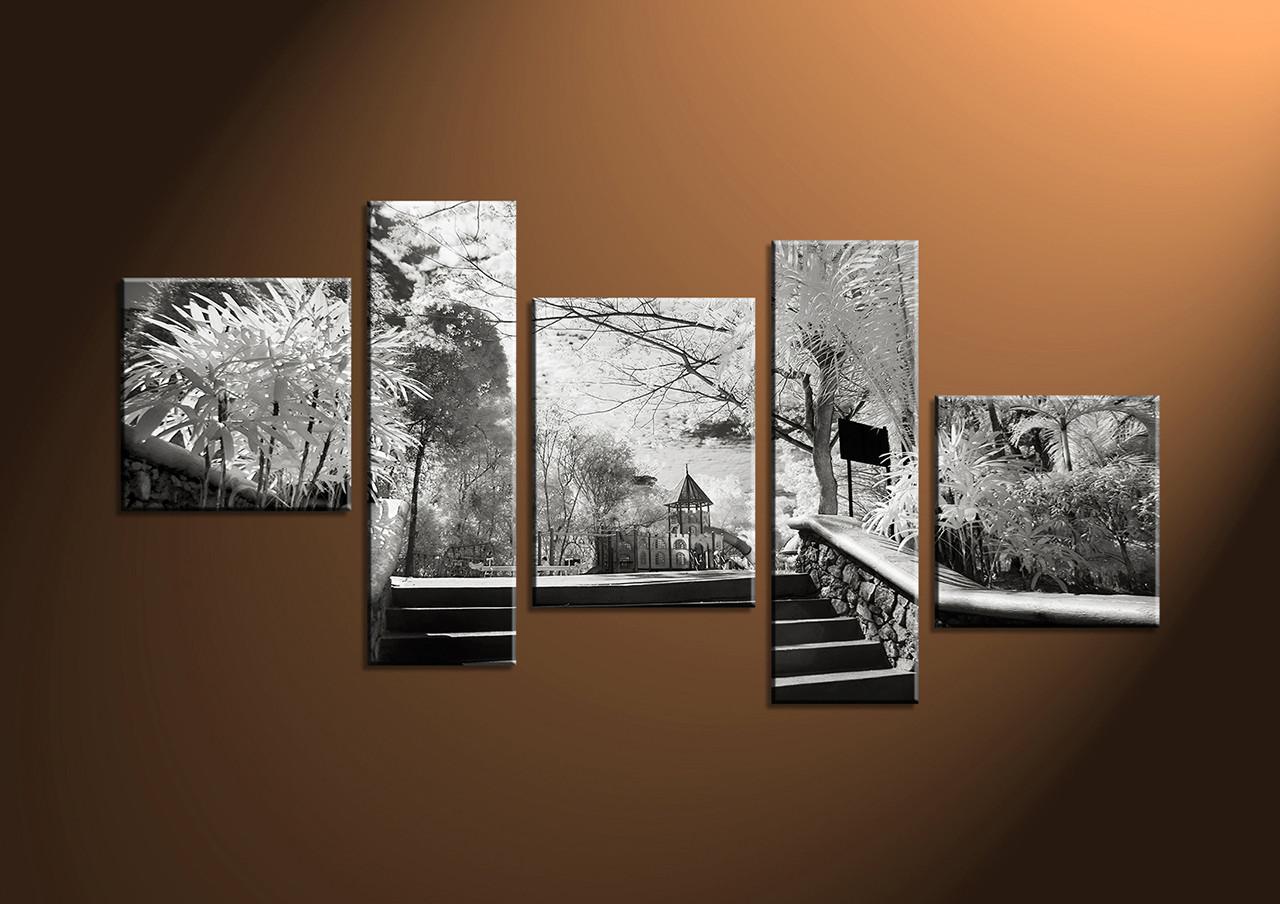 5 piece black and white wall artcanvas prints photography