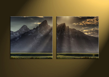landscape art, mountain art, wall art, scenery huge canvas art, scenery art