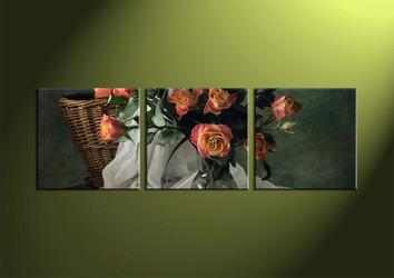 3 Piece Canvas Wall Art, wall art, flower wall decor, flower wall art, flower wall art