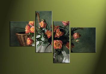 4 Piece Canvas Wall Art, wall art, flower wall decor, flower wall art, flower wall art