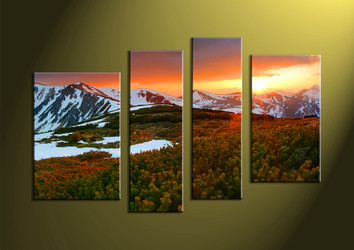 Canvas Prints, 4 piece wall art, Landscape Art, scenery canvas prints, landscape artwork