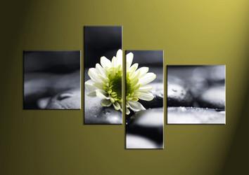 4 Piece Canvas Wall Art, wall art, flower wall art, flower wall decor, flower art