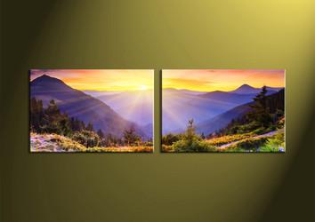 wall art, sunrise canvas art, mountain canvas print, scenery art, scenery artwork