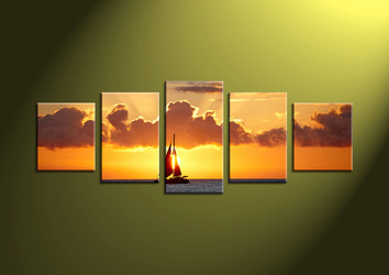 5 piece wall art, 5 piece group canvas, 5 piece scenery artwork, wall art, huge canvas art