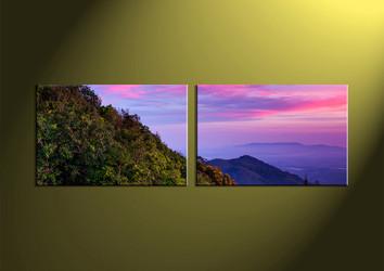 wall art, landscape canvas art, scenery canvas print, scenery art, 2 piece artwork
