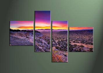 Home Decor,4 piece wall art, Landscape multi panel art, desert canvas print, scenery huge pictures