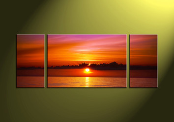 Home Décor Art, 3 piece canvas art prints,ocean canvas print, Scenery group canvas, sunset pictures