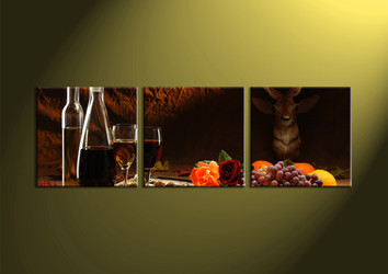 home decor,3 piece wall art, wine multi panel art, kitchen art work, wall art