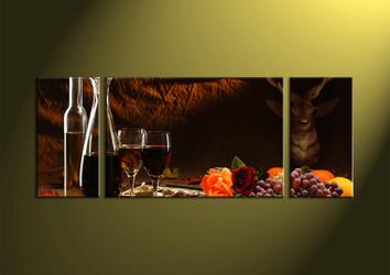 home decor,3 piece wall art, wine multi panel art, kitchen art work, wall art