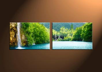 Home Decor Art, 2 piece canvas art prints,ocean canvas print, Scenery group canvas, sunset pictures