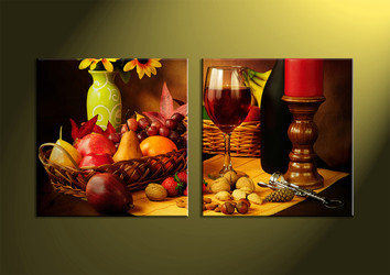 home decor,2 piece wall art, wine multi panel art, kitchen canvas print, wall art