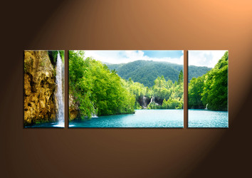 Home Decor, 3 Piece Wall Art, ocean multi panel art, scenery photo canvas, sunset artwork