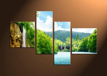 Home Decor,4 piece canvas wall art, ocean multi panel canvas, Scenery canvas prints, Sunset canvas photography