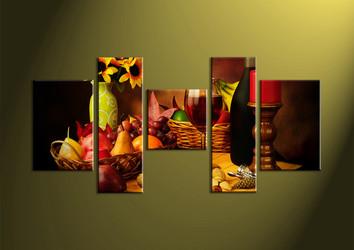 home decor,5 piece wall art, wine multi panel art, kitchen canvas print, wall art