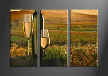 home decor,3 piece wall art, wine group canvas, landscape canvas print, landscape wall art