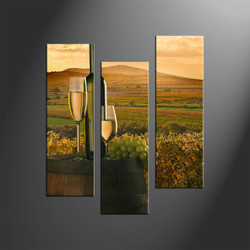 wine group canvas, home decor, 3 piece wall art, landscape canvas print, landscape wall art