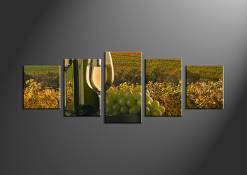 home decor,5 piece wall art, wine multi panel art, landscape large pictures, wall art
