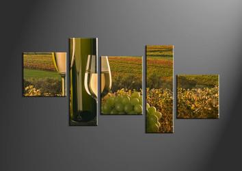 home decor, 5 piece wall art, wine multi panel art, landscape large pictures, wine wall art