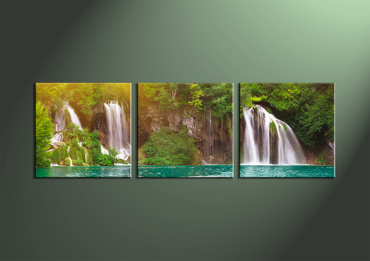 Scenery Canvas ArtHome Decor 3 Piece Wall Artocean Multi Panel Art
