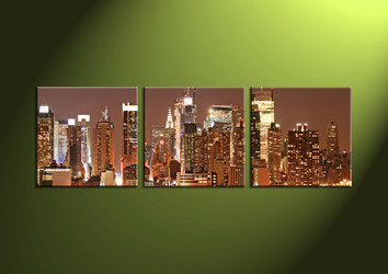 Home Decor, 3 Piece Wall Art, 2 piece multi panel art, scenery canvas art, city multi panel art