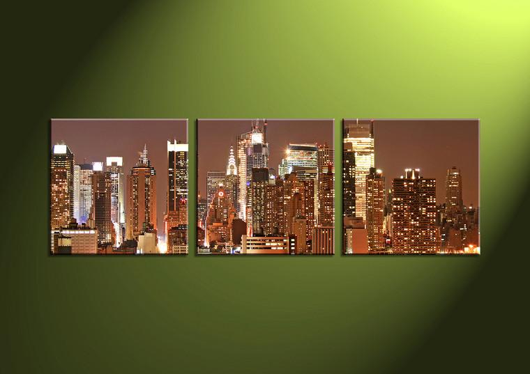 Home Decor, 3 Piece Wall Art, 2 piece multi panel art, scenery canvas art, city multi panel art