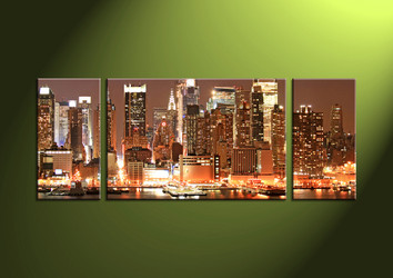3 Piece Wall Art, 3 piece multi panel art,Home Decor, scenery canvas art, city multi panel art