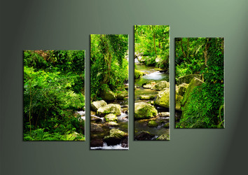 Home Decor Art, 4 piece canvas art prints, scenery canvas print, Scenery group canvas, waterfall pictures