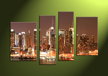 scenery, wall art ,Home Decor,4 piece canvas art prints,canvas print, city large pictures