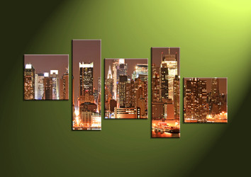scenery, wall art ,Home Decor,5 piece canvas art prints,canvas print, city large pictures