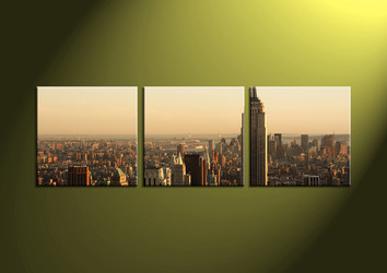city multi panel art, home decor, 3 Piece Wall Art, scenery multi panel art, scenery canvas art