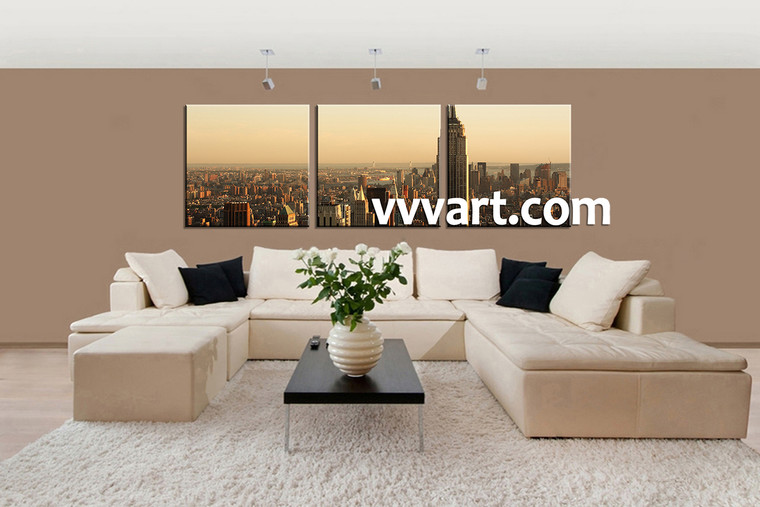 scenery huge pictures, living room Wall Art, 3 Piece Wall Art, scenery multi panel art, city wall art