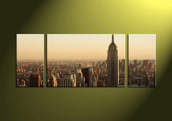 city multi panel art, home decor, 3 Piece Wall Art, scenery multi panel art, scenery canvas art,