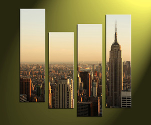 home décor, 4 piece canvas wall art,city multi panel canvas, city large canvas , wall art