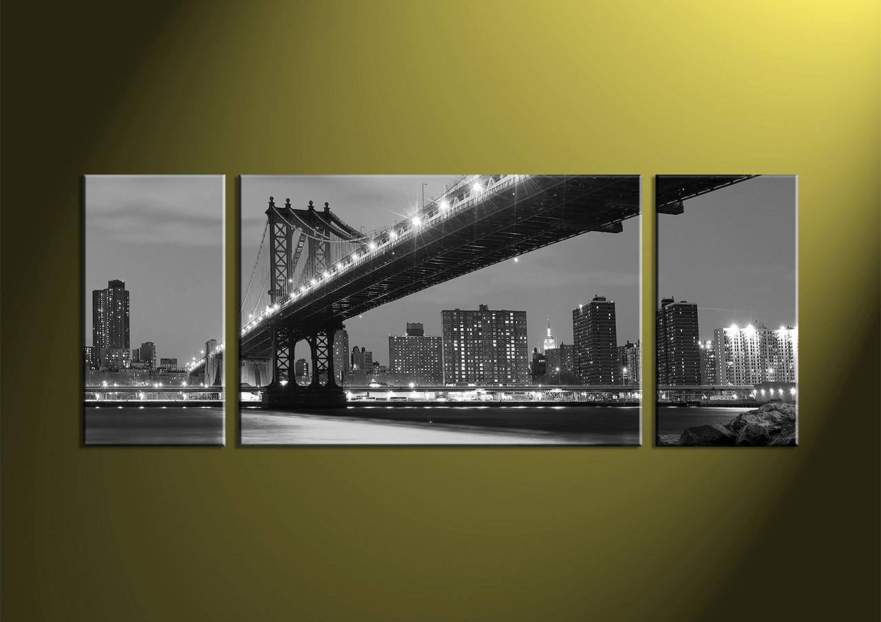 Home decor 3 piece canvas art prints city canvas print city artwork