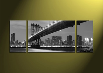 Home Decor, 3 piece canvas art prints, city canvas print, city artwork, black and white canvas wall art