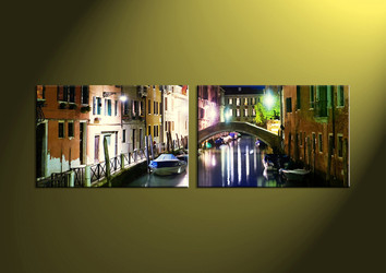 home decor,2 piece canvas art prints,canvas print, city canvas print,  scenery large canvas