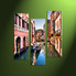 Home Decor, 3 piece canvas wall art, city multi panel canvas, city artwork, venice pictures